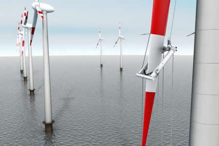 Un robot inspecciona parques eólicos por cualquier daño en los mismos - Imagen del Instituto Fraunhofer