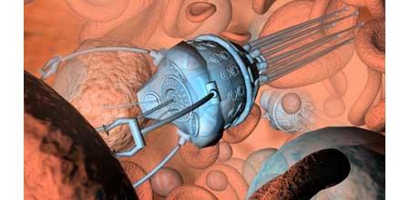 Microrobot en el torrente sanguíneo - Imagen de NoticiasTech