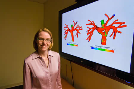 Alison Marsden, ingeniera aeroespacial y mecánica de la UC San Diego, desarrolló harramientas de simulación que permitirán asistir cirugías cardíacas en niños - Imagen de UC San Diego