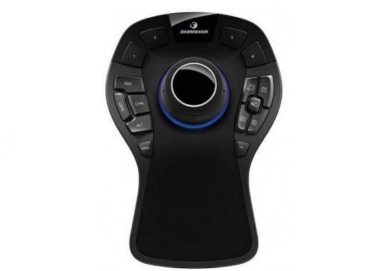 El Space Mouse Pro presenta un diseño ergonómico
