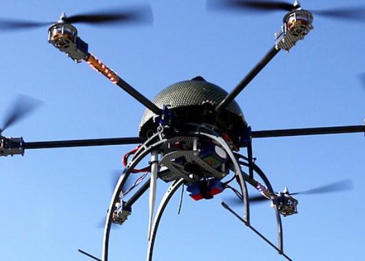 Aracnocóptero en vuelo de prueba