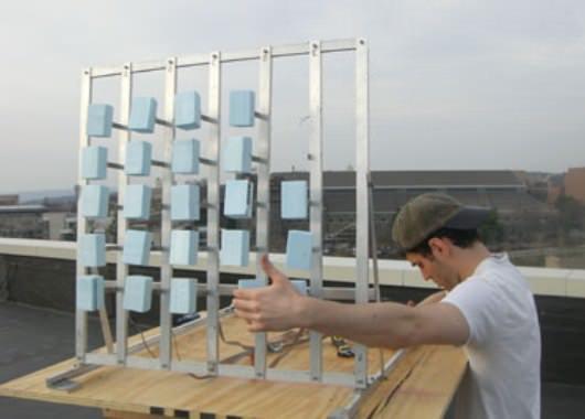 Primer prototipo para aprovechar el viento mediante vibraciones.