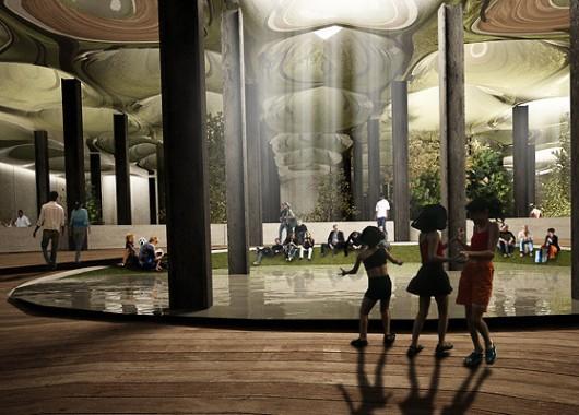 Concepto de parque subterráneo