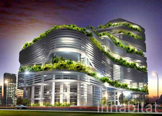 Edificación verde futurista