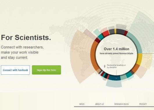 Página de inicio de ResearchGate