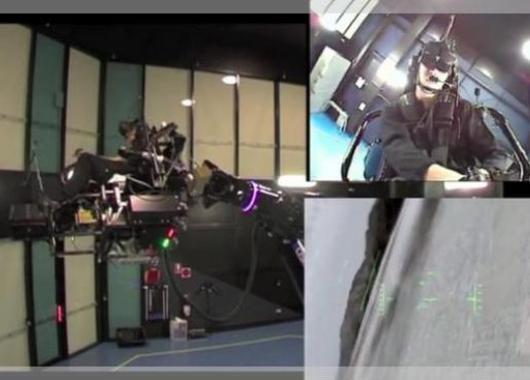 Un simulador de vuelo impresionante