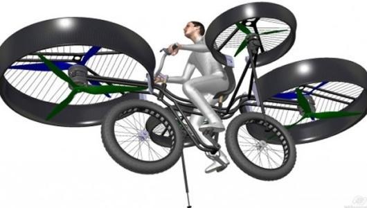Prototipo virtual de bicicleta voladora