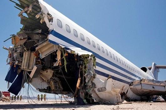 Avión Boeing 747 estrellado