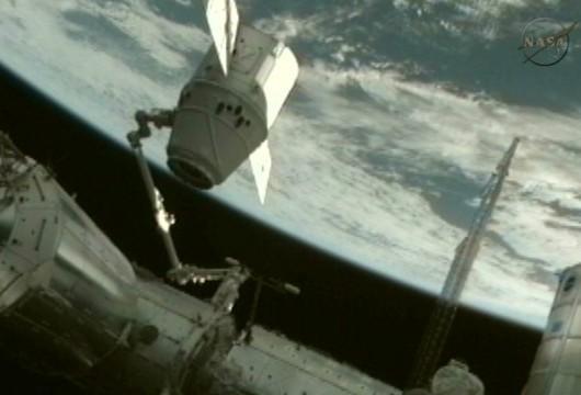 Cápsula Dragon en la ISS