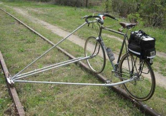 Bicicleta para vías del tren