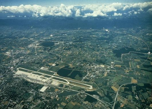 Vista aérea del CERN