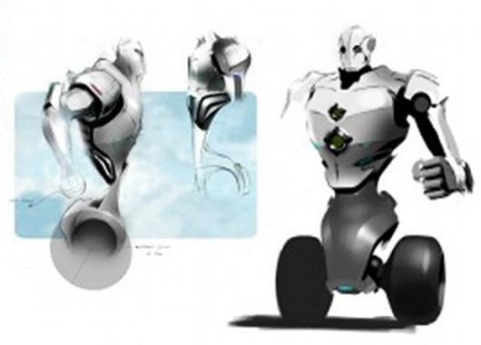 Concepto de robot policía