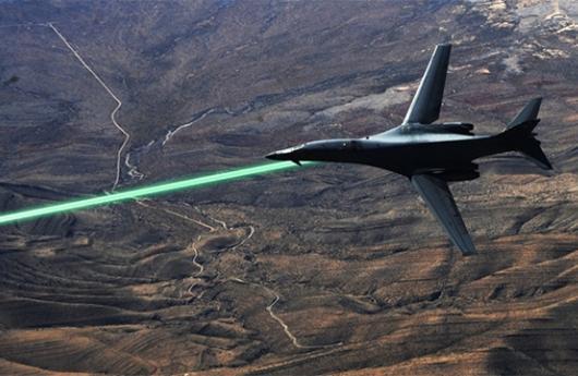 Láser en avión