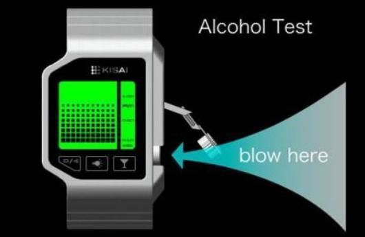 Reloj con alcoholímetro