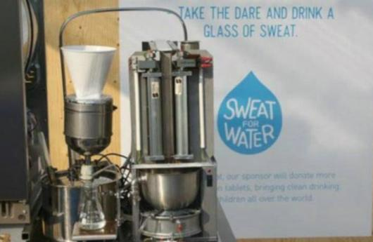 Convertir sudor en agua