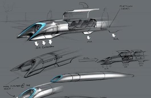 Boceto Hyperloop