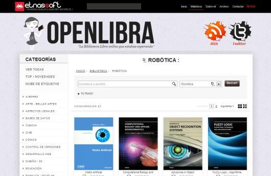 Libros de robótica en Open Libra