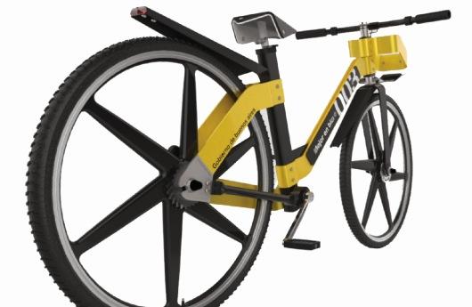 Diseño industrial de bicicleta