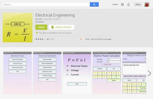 App engenharia elétrica