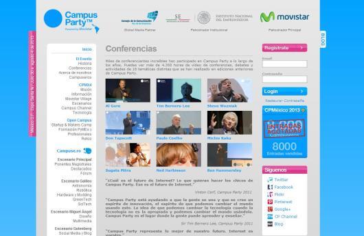 Conferencias en Campus Party