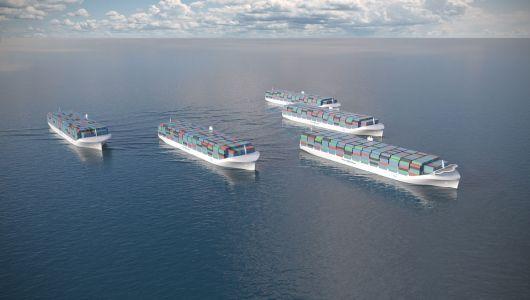 Concepto de flota-dron