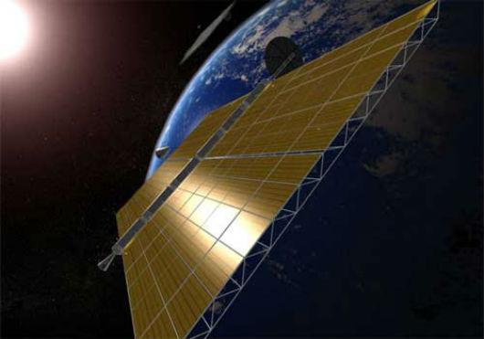Captura de energía solar en el espacio