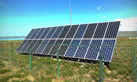 Panel solar de células de silicio