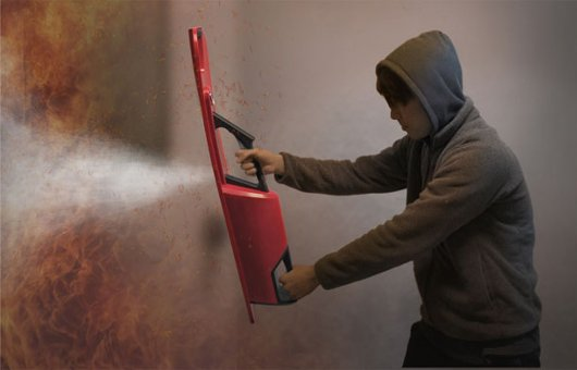 Forma de uso del Shield Extinguisher